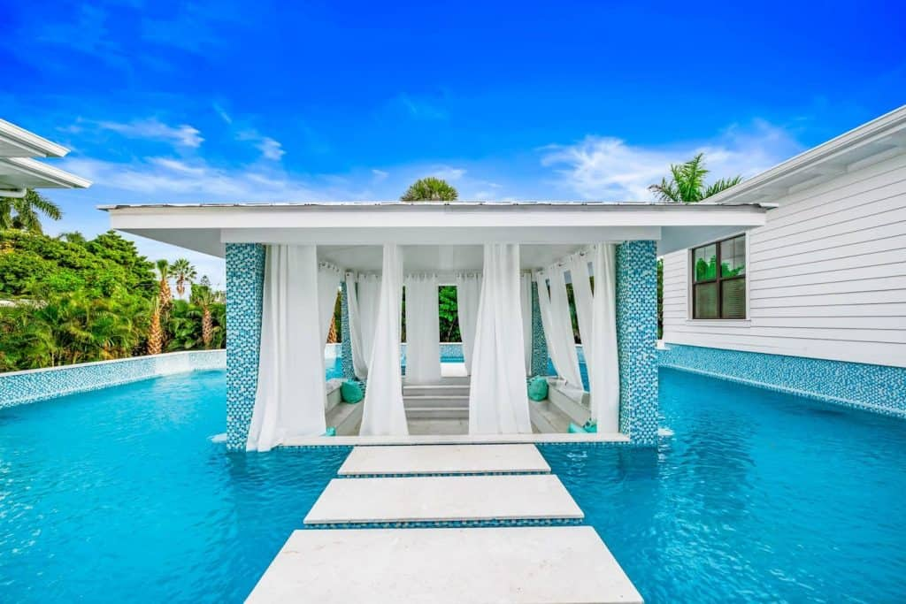 Photo of a stunning pool at the Dream Island Airbnb in Sarasota.
