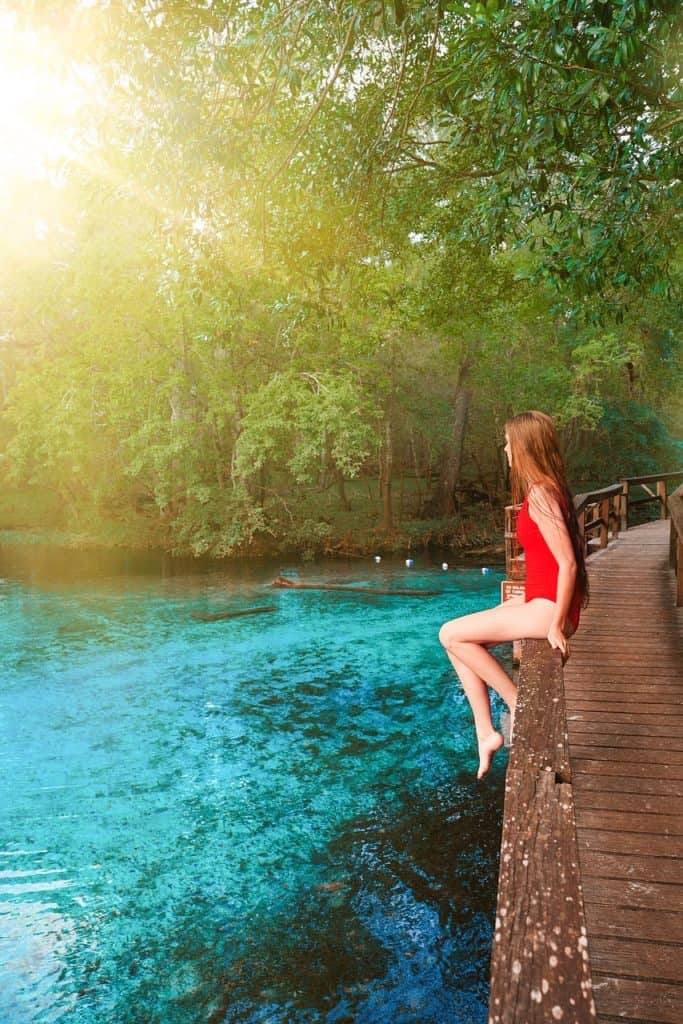 overlooking Gilchrist Blue Springs in Florida | best springs in Florida | photos of florida springs