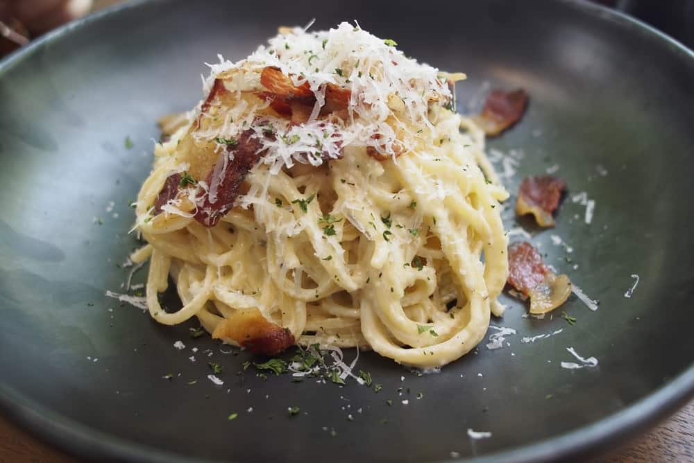 Try the spaghetti carbonara at Fratellino Ristorante with homemade pasta.
