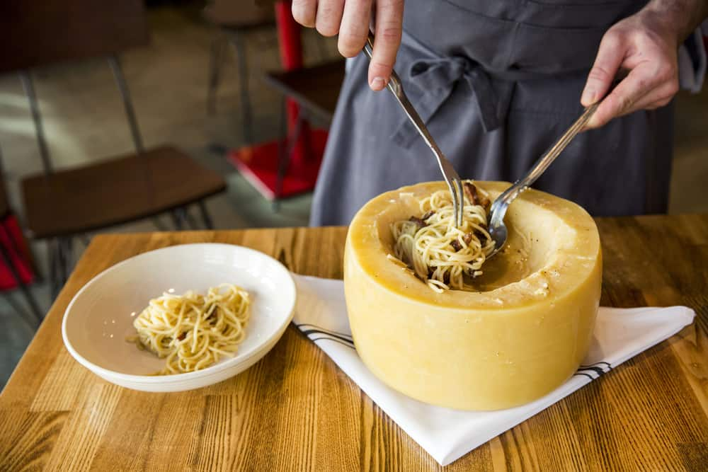 Try one of the best Italian Restaurants in South Beach and eat the pasta in cheese wheel at Pane E Vino