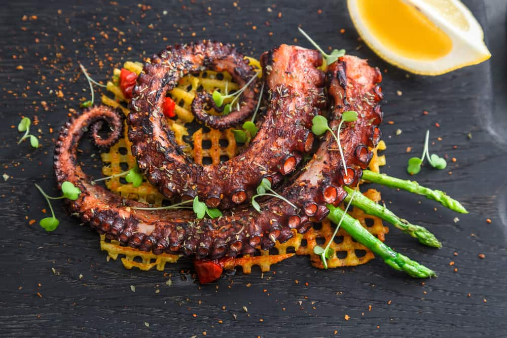 Try the grilled octopus at Casa Tua one of the best Italian restaurants in Miami