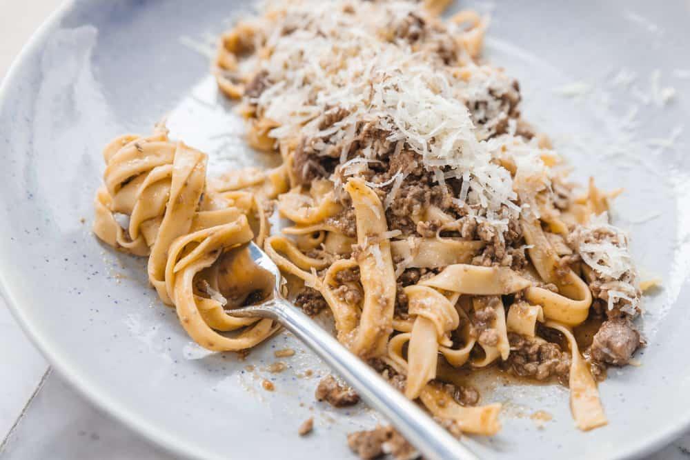 Try the spaghetti with lamb ragu at La Locanda one of the Italian restaurants in South Beach
