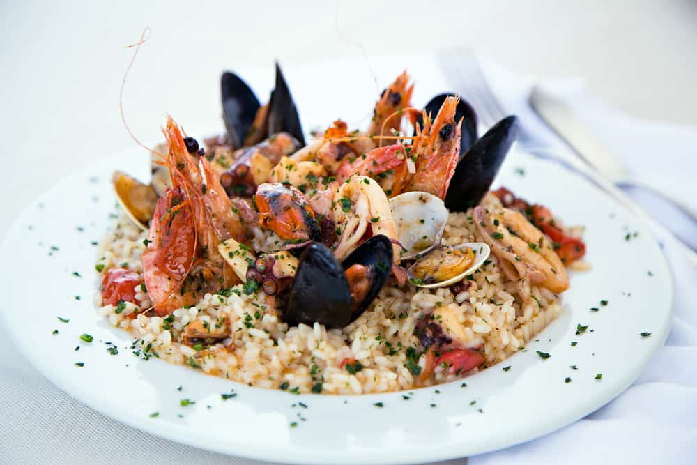 At prima pasta try the seafood risotto at this family owned Italian restaurant in Miami