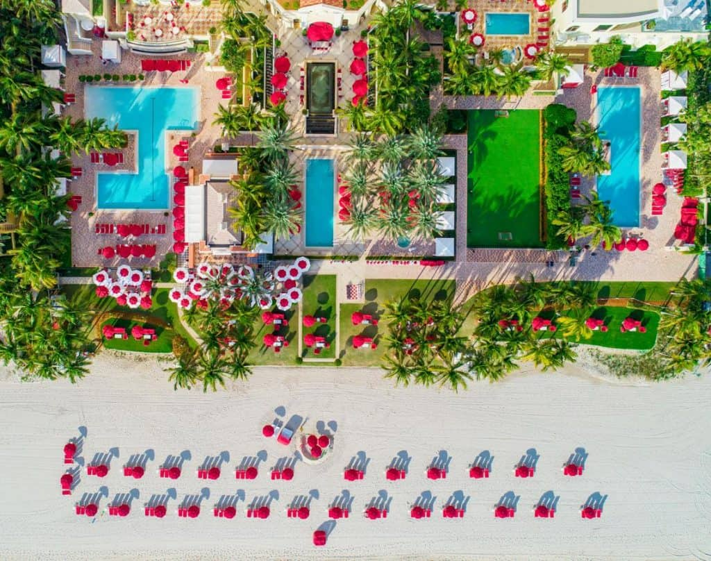Acqualina Resort and Residences is one of the best honeymoon resorts in florida without a doubt - its truly a sight to behold!