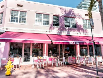The Big Pink restaurant in Miami
