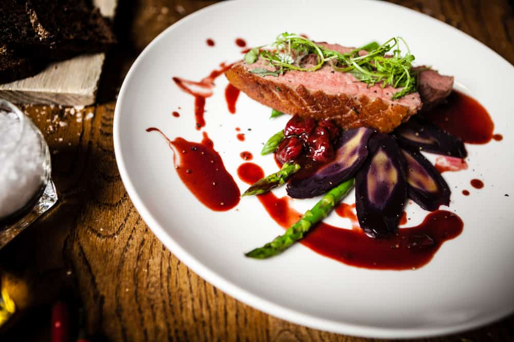 Try the Maple Leaf Farm Duck Breast at Collage Restaurant in Saint Augustine