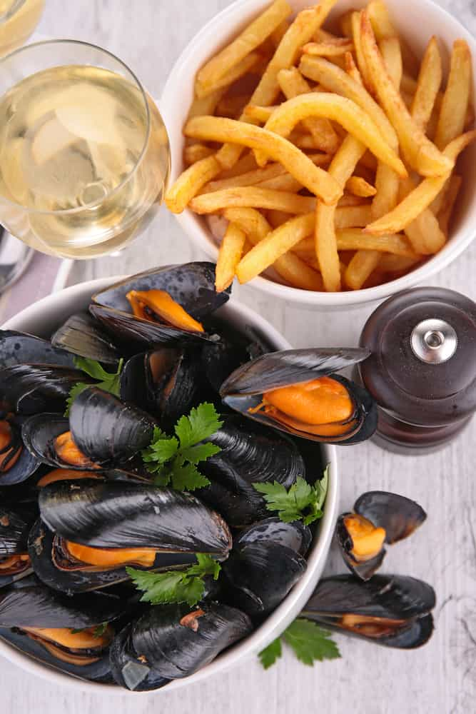 Try the mussels and fries at preserved restaurant serving some of the best food in Saint Augustine serving upscale southern cuisine