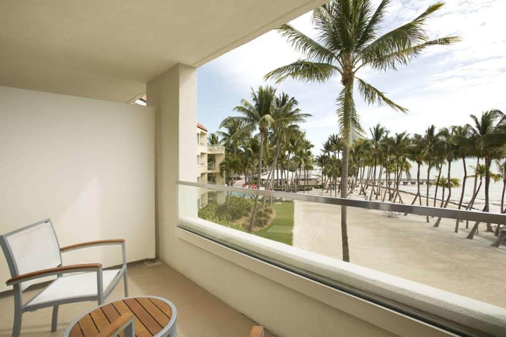Casa Marina key West benefites from views of the private beach
