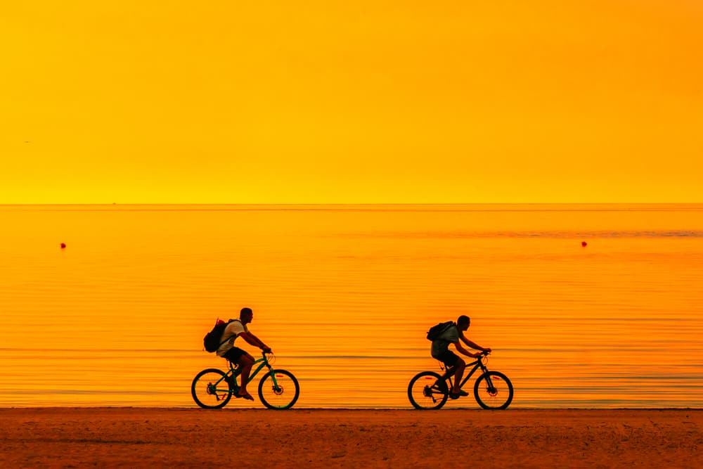 many cities such as miami beach allow you to hire bikes