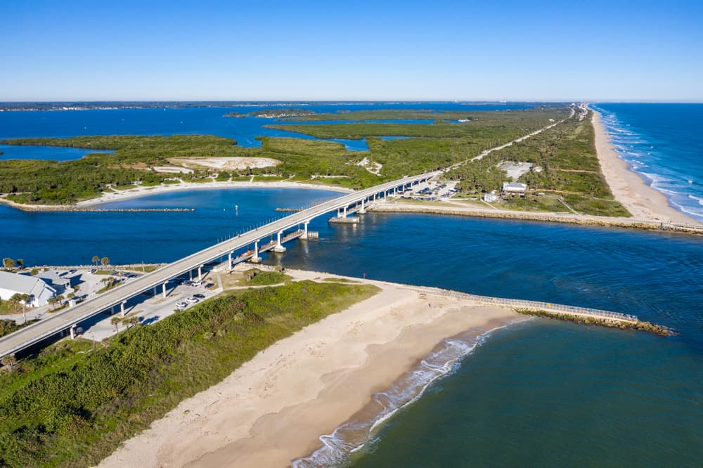 Sebastien Inlet a great place for surfing in Florida