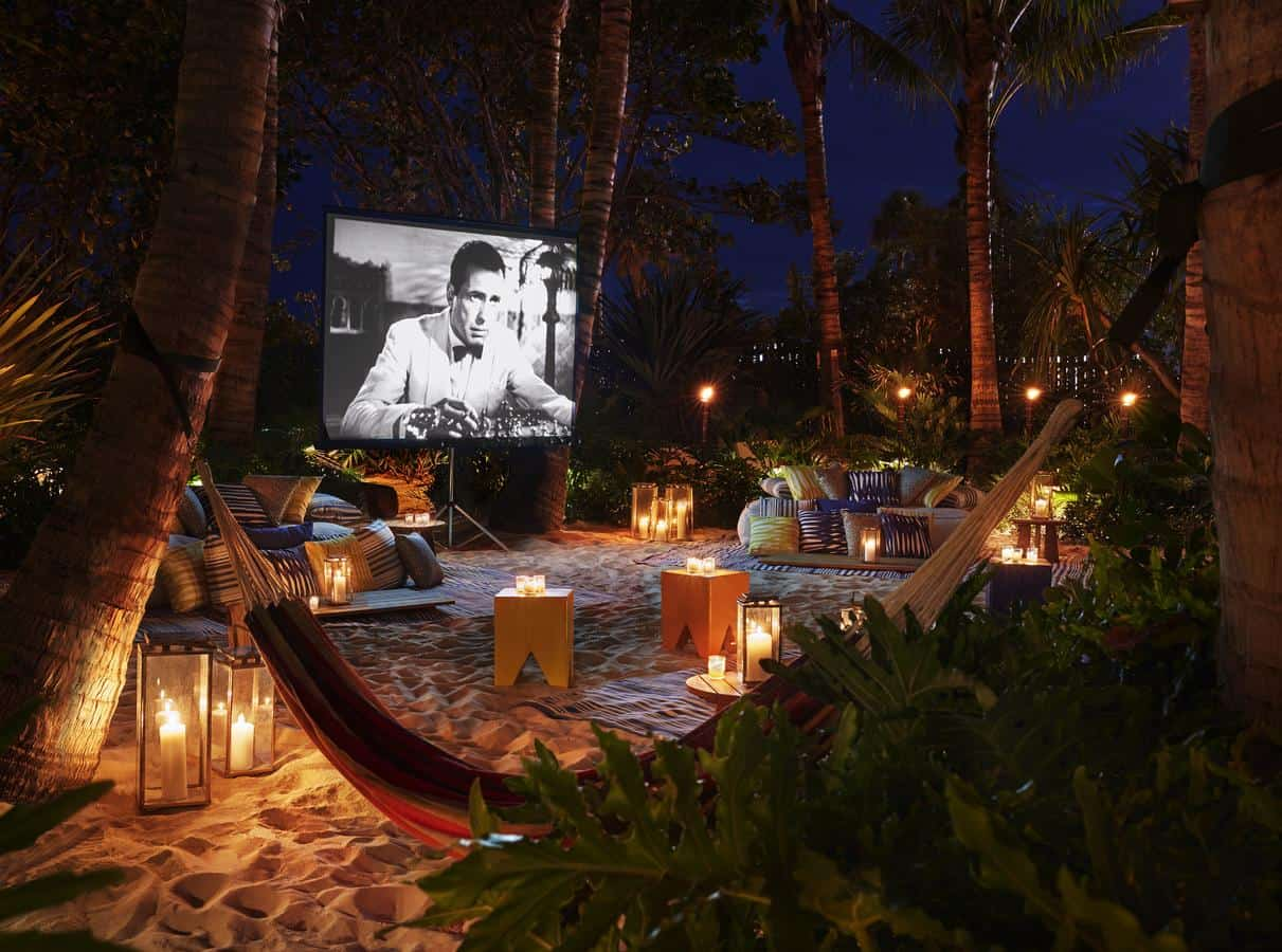 This best honeymoon resort in florida even comes with an outdoor movie theatre!