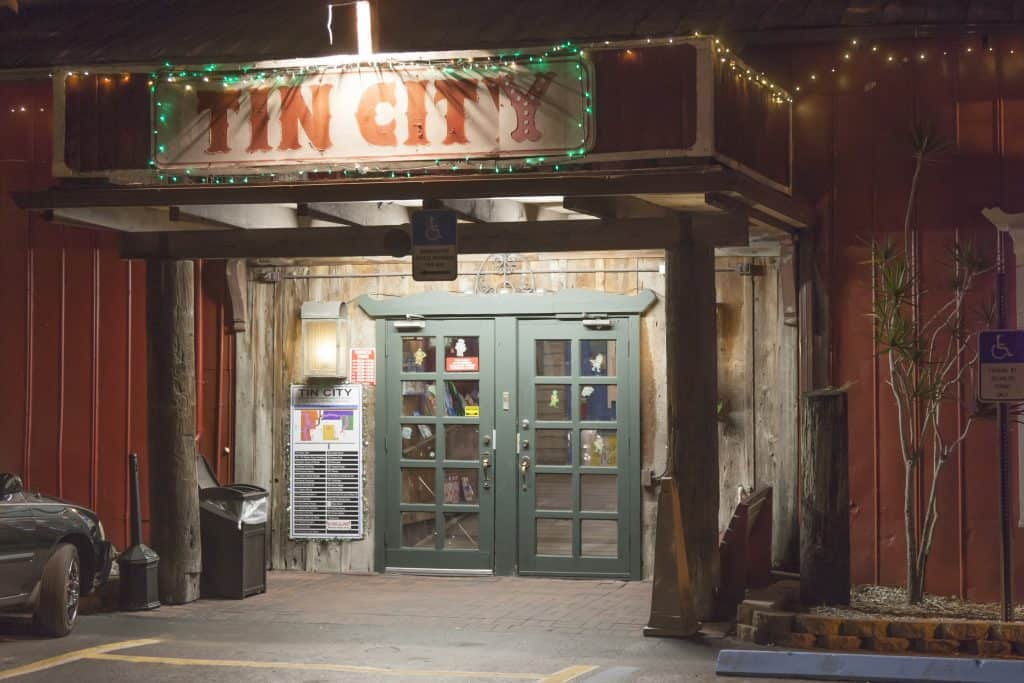 One of the entrances to Tin City, a quirky shopping destination, one of the best things to do in Marco Island.