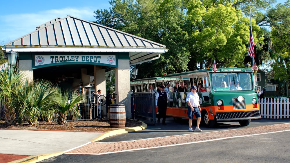 Take one of the trolley tours for a Saint Augustine Attraction