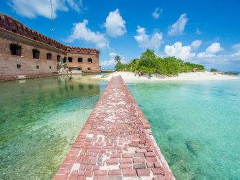 The Dry Tortugas National Park with the fort