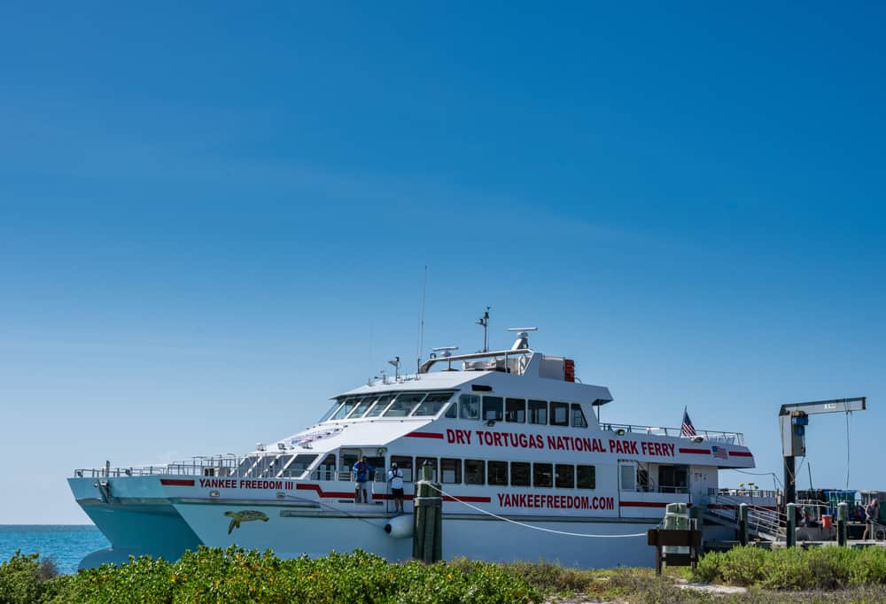 The ferry at Dry Tortugas National Park