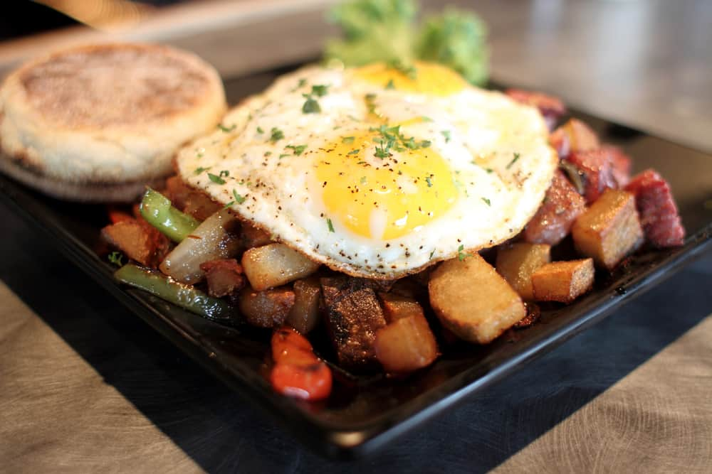Try the veggie hash for brunch at 10 twenty five in Fort Myers