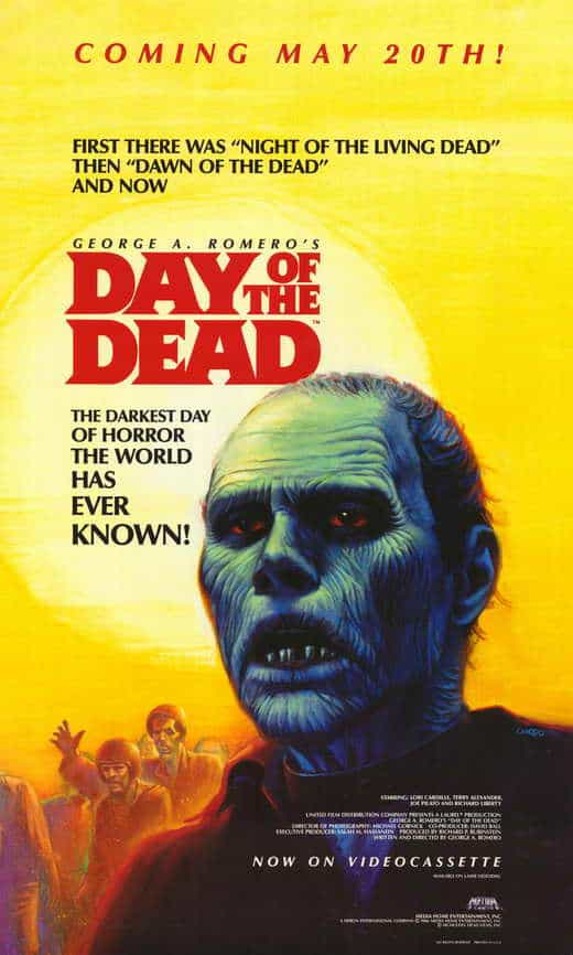 Day of the Dead is part of the popular Night of the Living Dead franchise. The above ground scenes were filmed in Florida