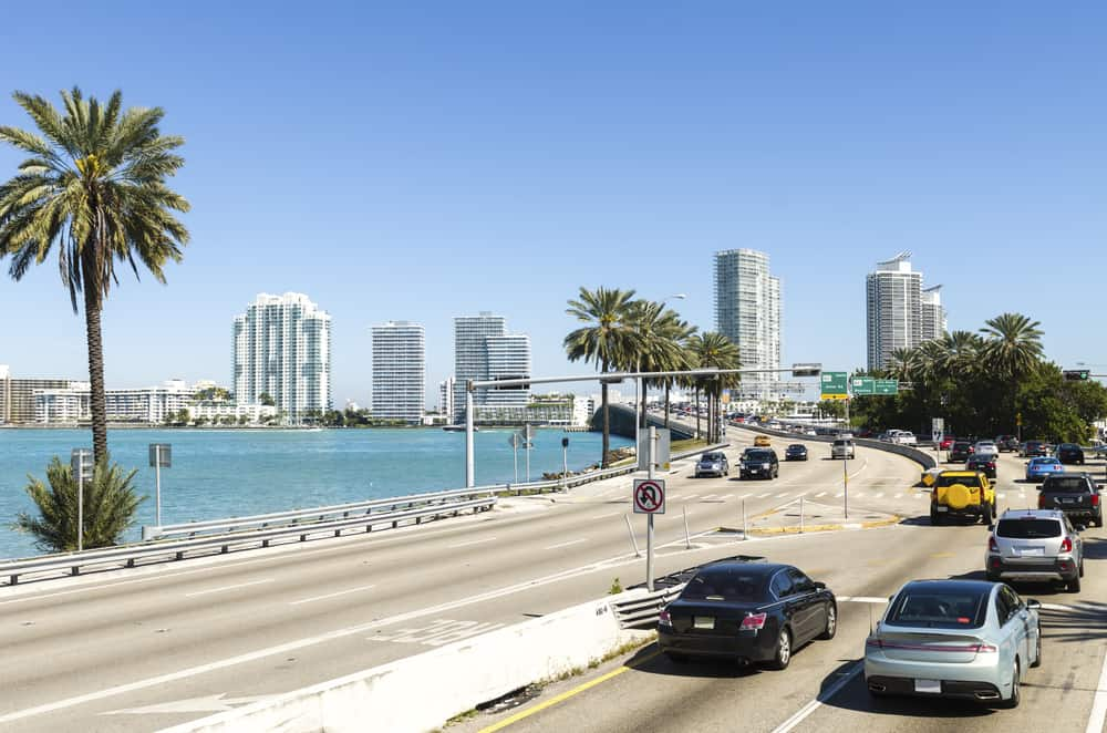 the large roads in Miami in an article about driving in Florida.