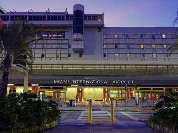 Head to one of the Florida Airports like Miami International