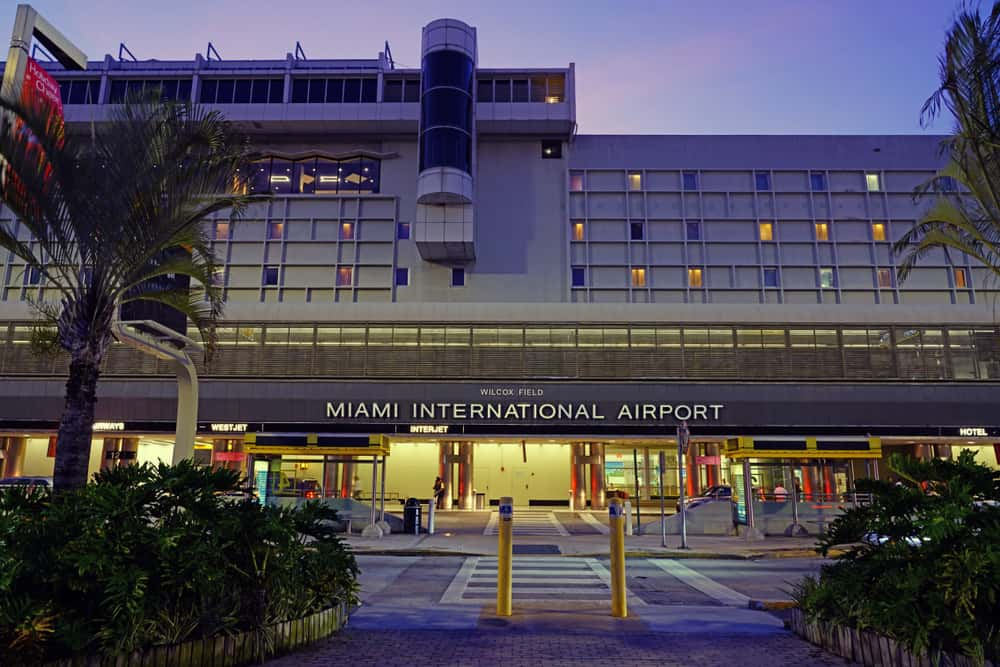 Head to Miami International airport with over 40 million passengers a year