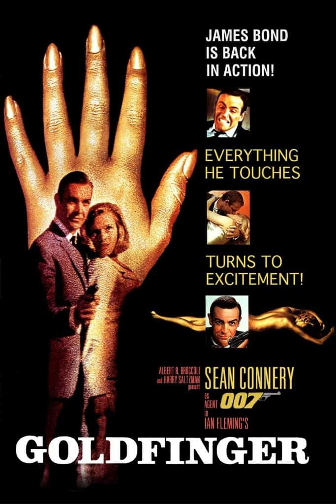Goldfinger is the third installment of the James Bond movie franchise