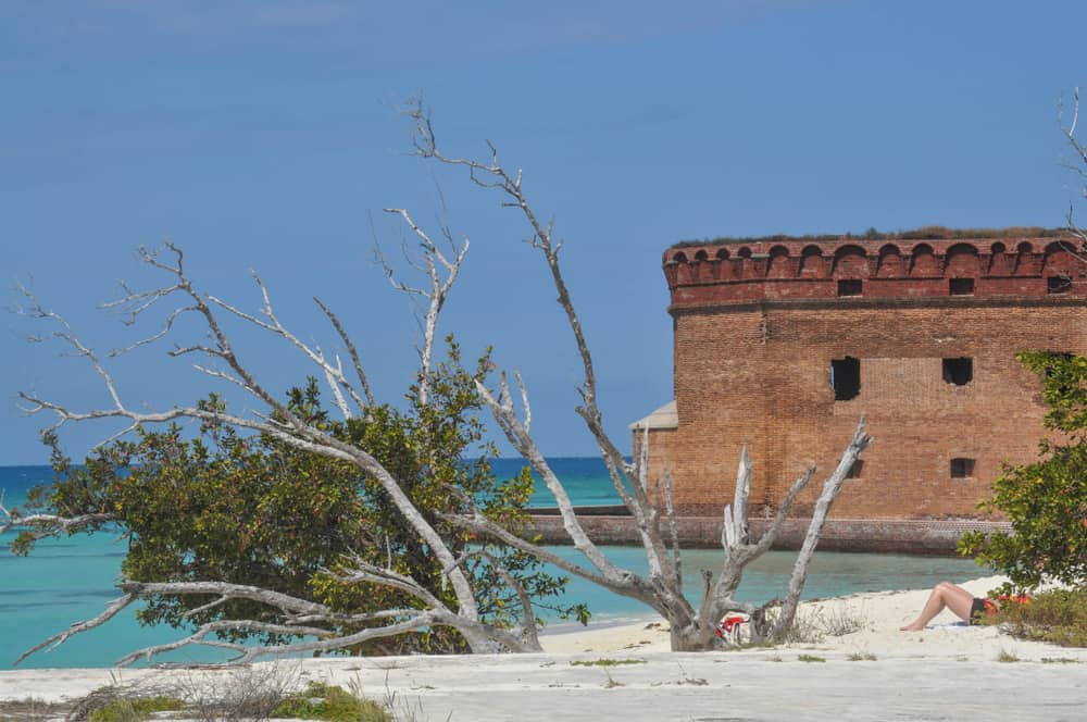 The beautiful beach at Dry Tortugas National Park