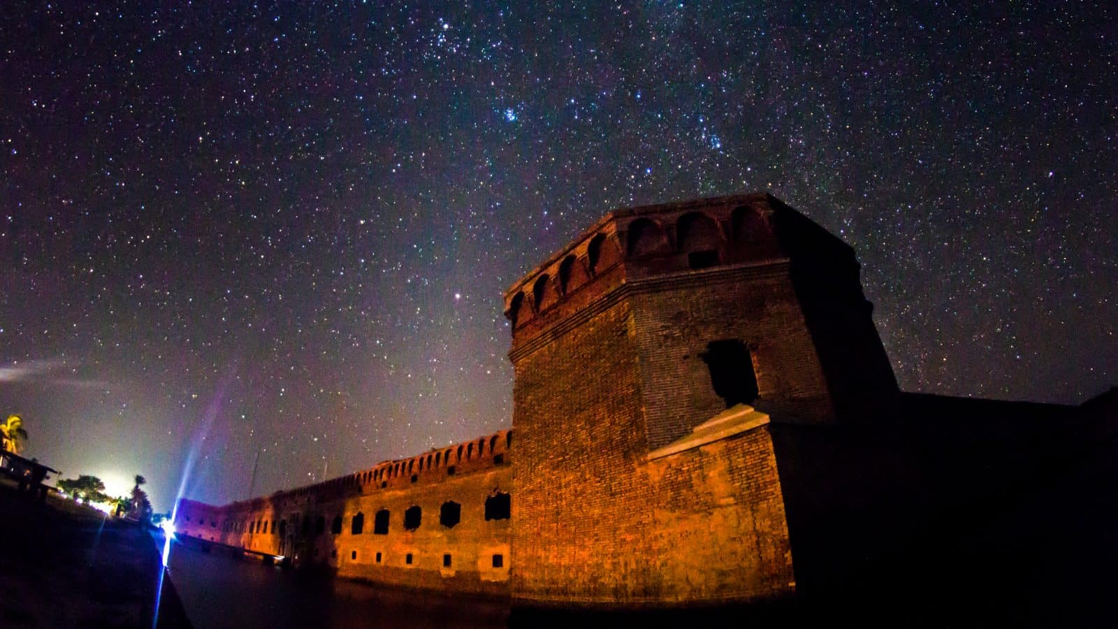 The stars are out in full force in the dark sky above Dry Tortugas National Park.