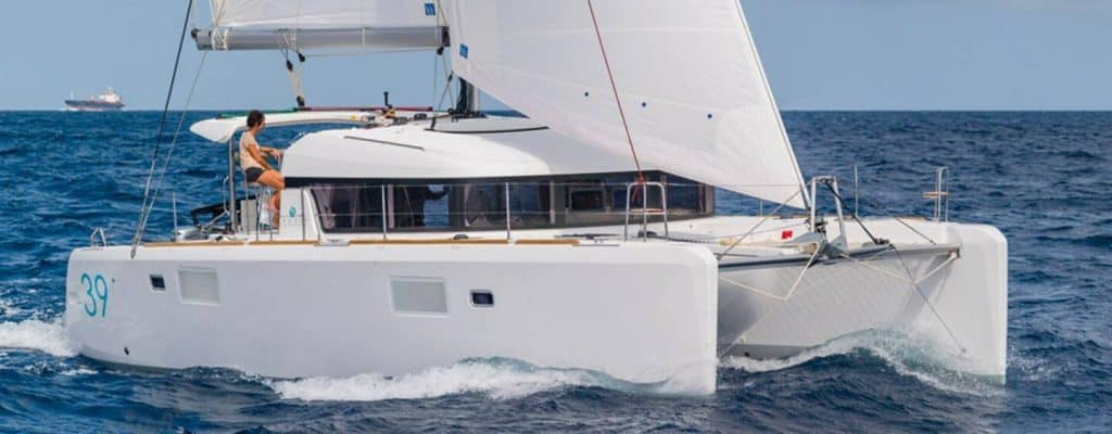 Photo of a luxury catamaran sailboat that is an Airbnb.