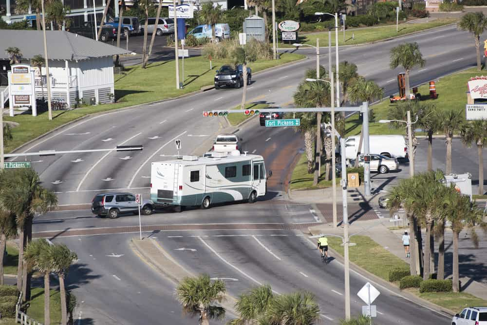 RV driving in Florida