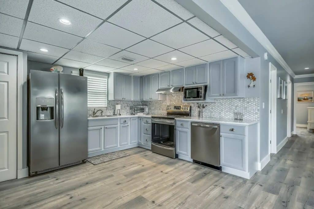 Photo of a very modern kitchen inside an Airbnb in Key Largo.