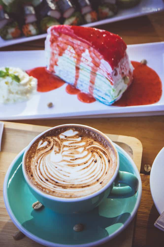 Head to the eclectic Felicitous for a delicious cup of coffee and some homemade dessert