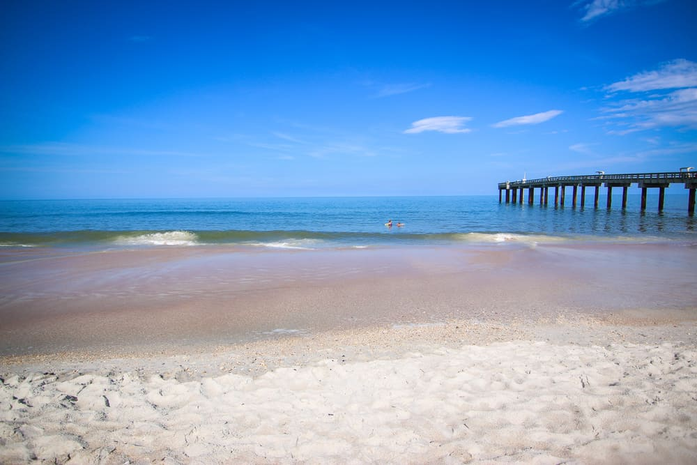 The peaceful water on St Augustine Beach