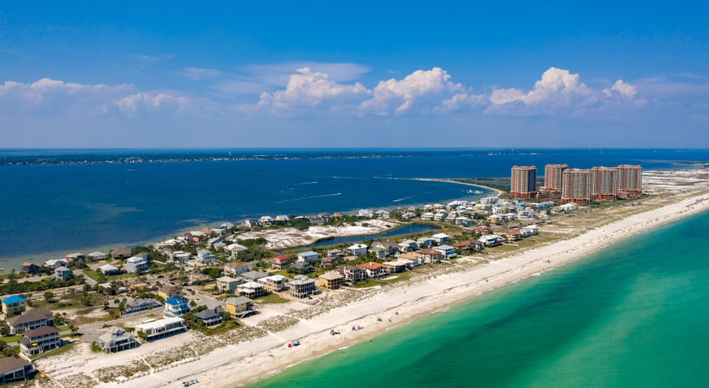 Pensacola's emerald coast and sugar white sands is a great way to spend all north florida day trips