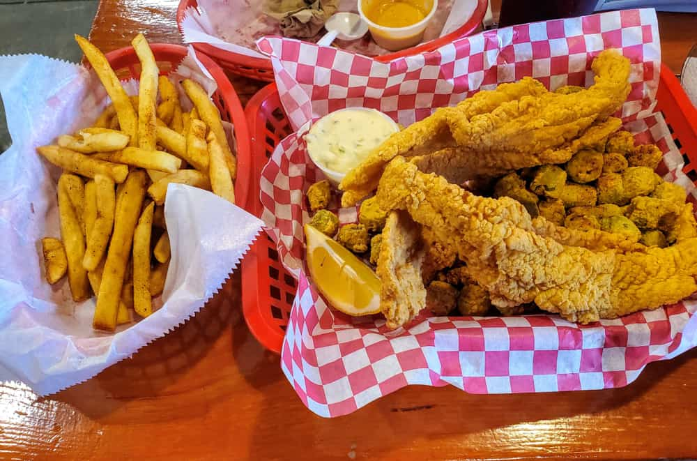Head to the relaxing fish house  for fresh seafood