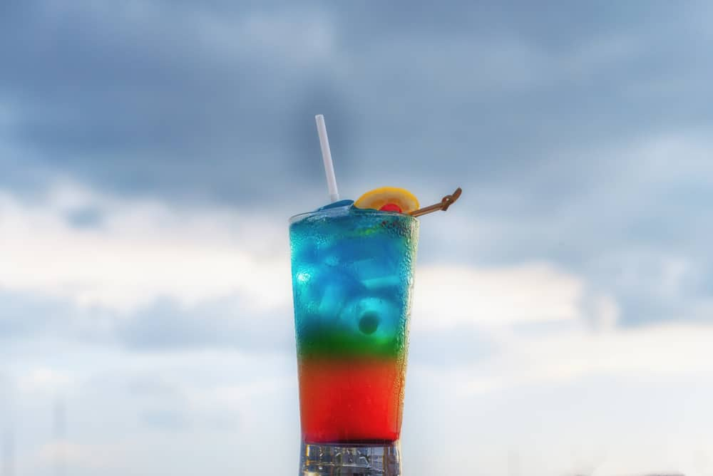 A cocktail against the sky