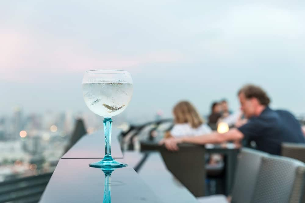 A rooftop bar in an article about rooftop bars in Orlando