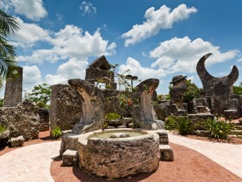 one of the many things to do in south florida include exploring coral castle