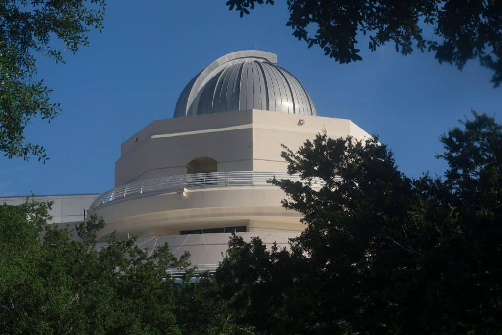 The dome of the Astronaut Memorial Planetarium and Observatory, one of the best things to do in Melbourne.