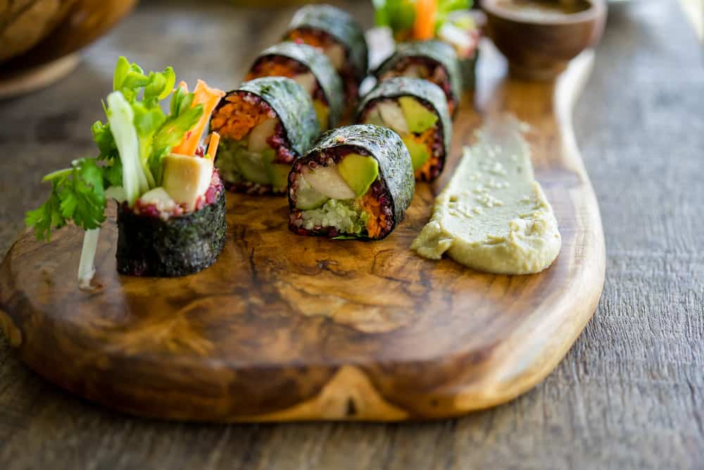 Try some vegan sushi at Plant Miami