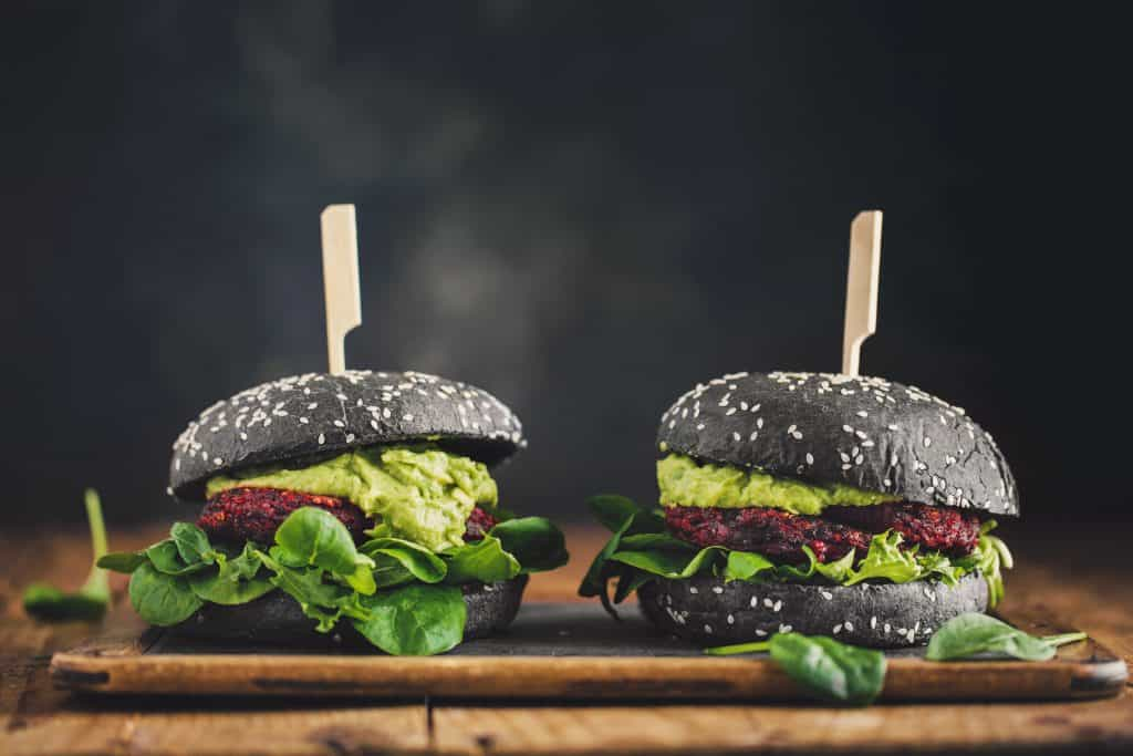 A pair of burgers that don't have any meat, fitting the bill for eating vegan in Tampa.