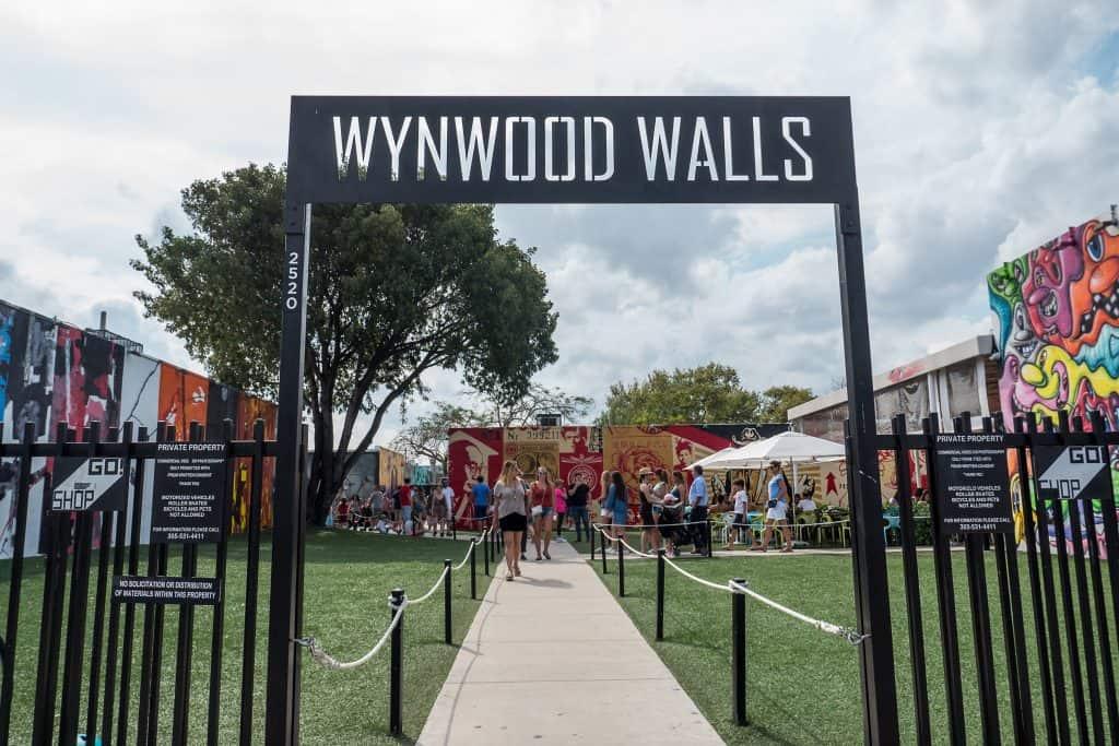The entrance to Wynwood Walls.