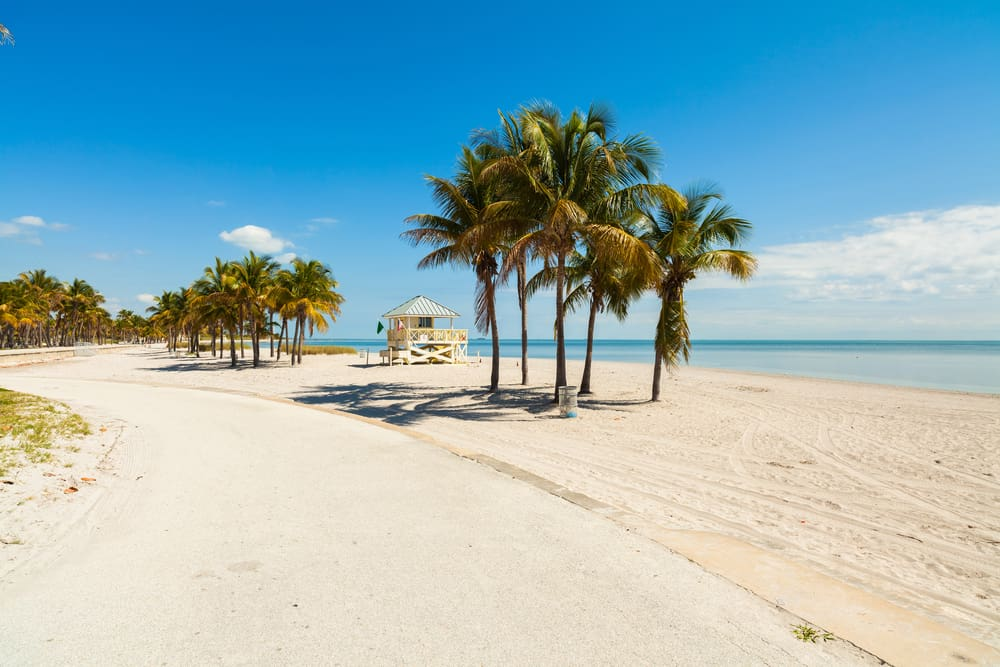 Crandon park is one of the beaches in Miami located on Key Biscayne