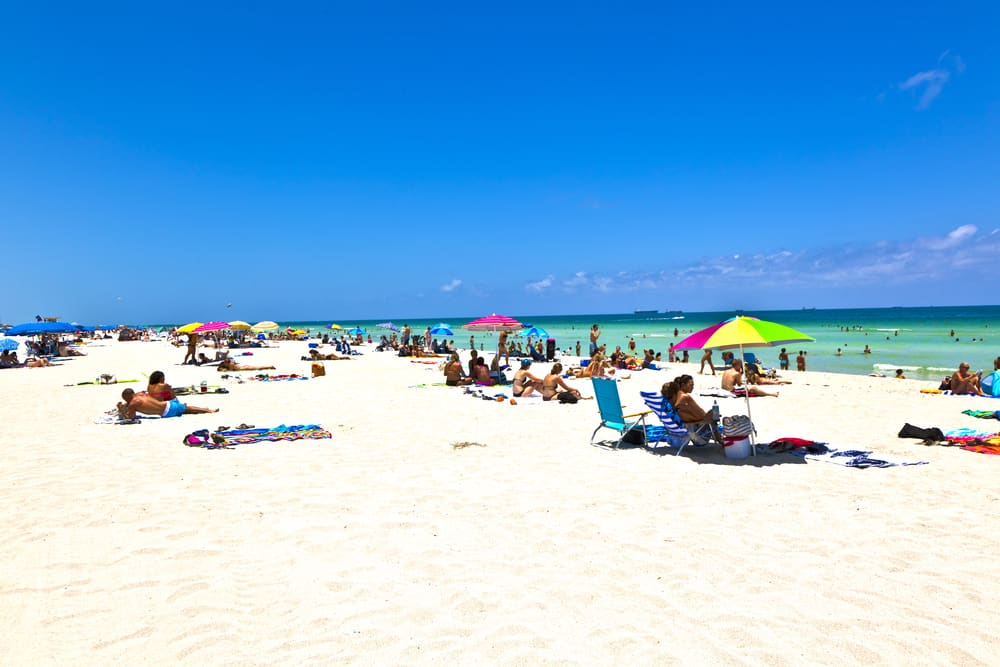 Head to Miami Beach for a more relaxed day than nearby South beach