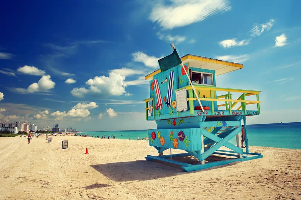 South beach is one of the most popular beaches in Miami
