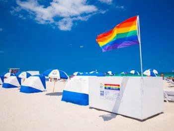 Miami 12th Street beach a famous gay beach in Florida