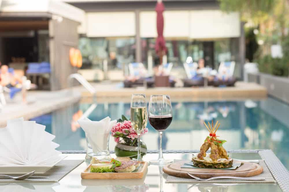 Head to Area 31 and enjoy drinks and food on the rooftop with a pool view