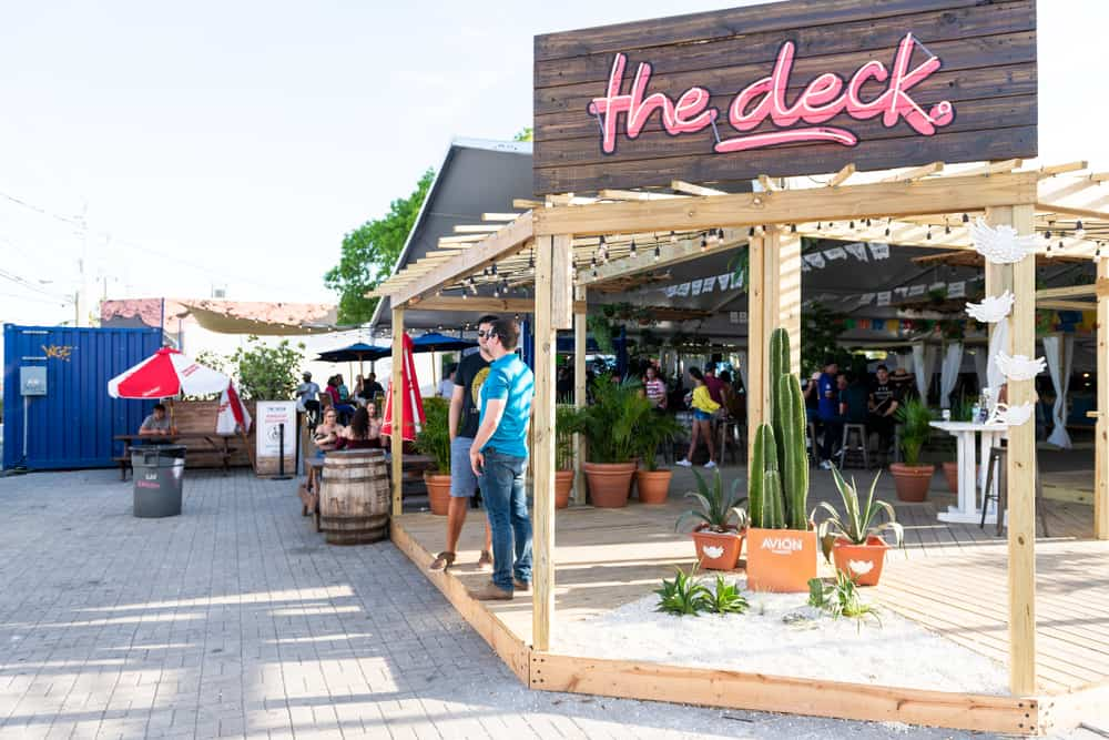 Head to the deck in Wynwood for a unique outdoor bar theme