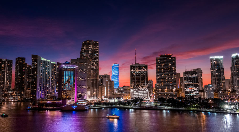 head to one of the many rooftop bars in Miami