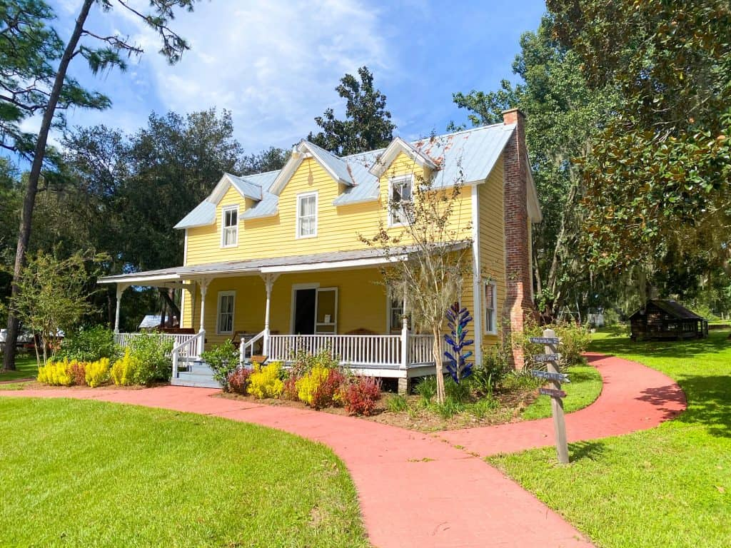 A small house sits in the Pioneer Village in Dade City, one of the cutest towns in Florida.