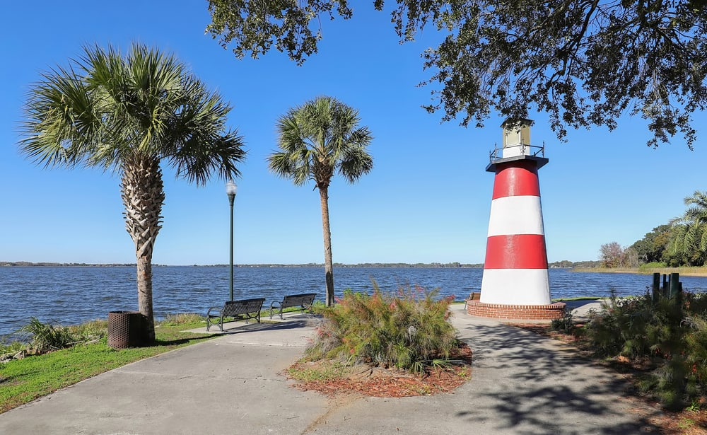 Head to Lake Dora and spot the fresh water lighthouses